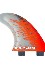 FCS FCS PC-3 Performance Core Surfboard Tri Fin Set - Red Smoke