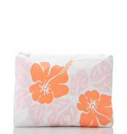 Aloha Collection Aloha Mid Big Island Hibiscus Dreamsicle/White