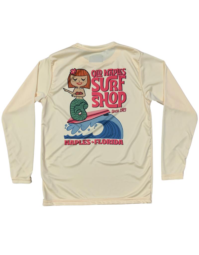 Old Naples Surf Shop ONSS Girls Surfing Mermaid UV Shirt