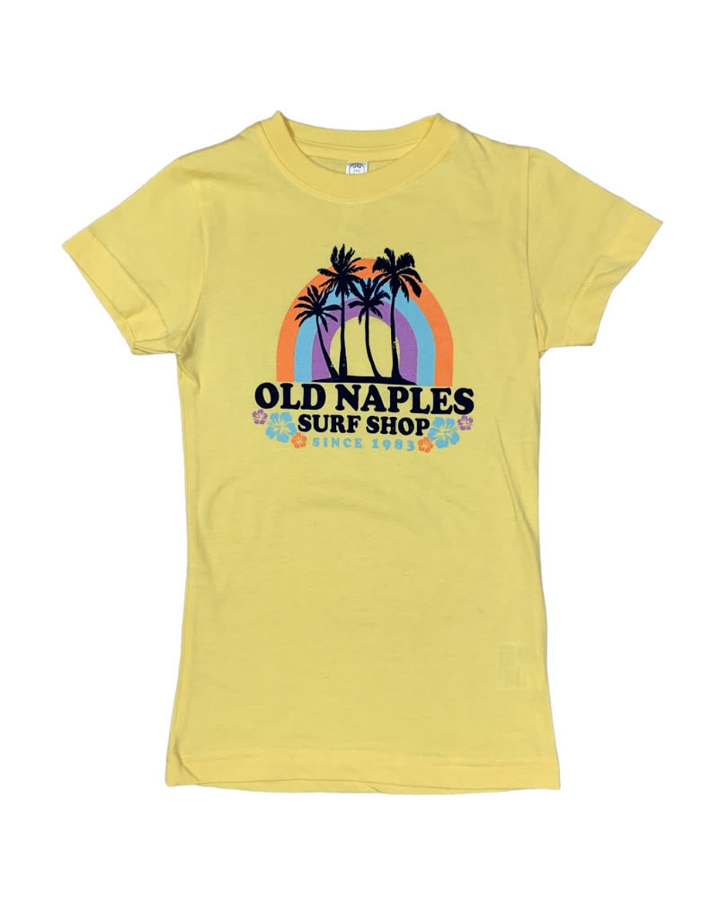 Old Naples Surf Shop ONSS Girls Tropical Rainbow Tee