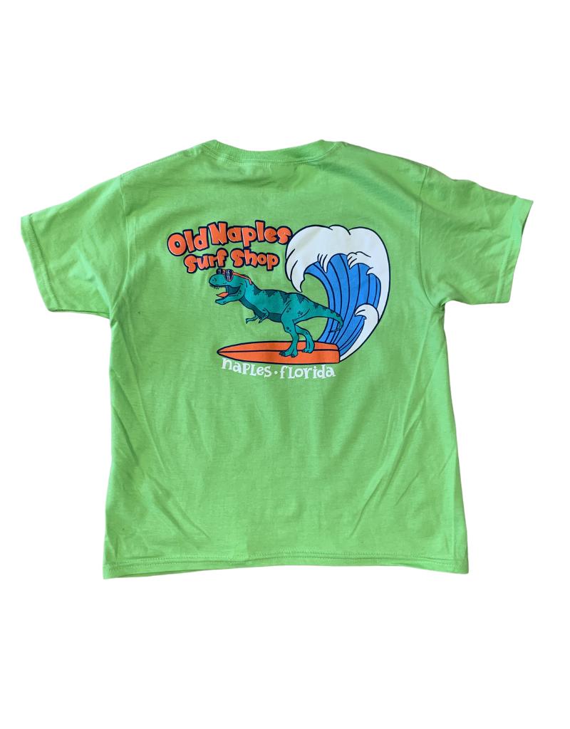 Old Naples Surf Shop ONSS Kids Surfing Rex T-Shirt
