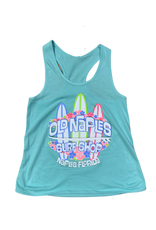 Old Naples Surf Shop ONSS Girls Surfboard Lei Tank Top