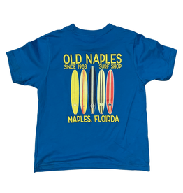 Old Naples Surf Shop ONSS Kids Old School Boards T-Shirt