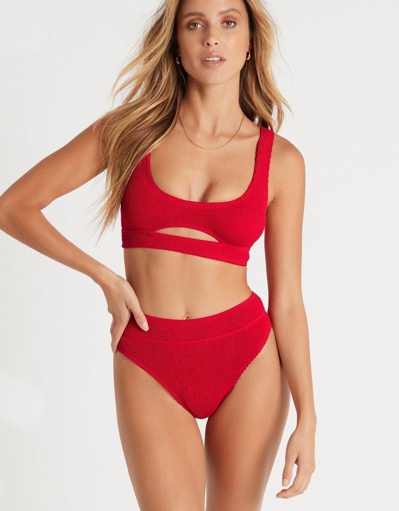 Bond-Eye BOUND by Bond-Eye The Sasha Cutout Ribbed Bikini Top