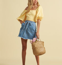 Billabong Billabong x The Salty Blonde Tied Up Denim Skirt