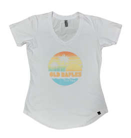 Old Naples Surf Shop ONSS Women's Shore Thing V-Neck T-Shirt