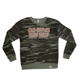 Old Naples Surf Shop ONSS Ring Around Weathered Crew Pullover