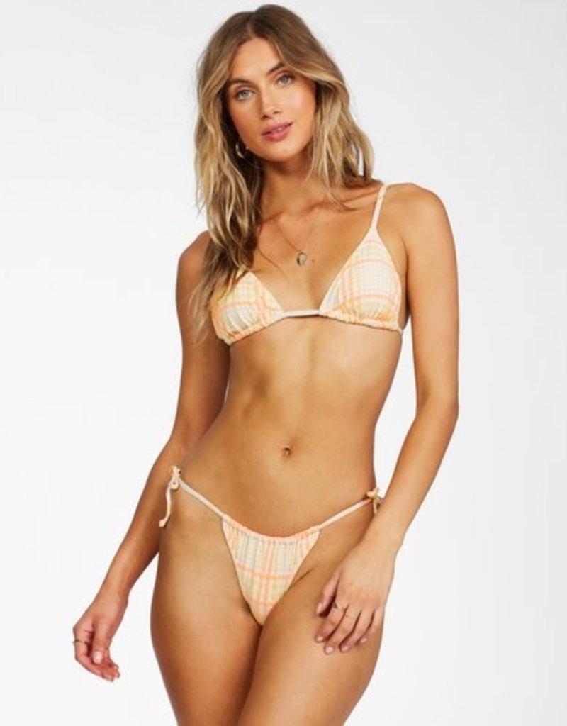 Billabong Billabong Pretty In Plaid Slide Tri Bikini Top
