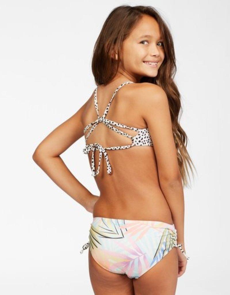Billabong Billabong Girl's Tropic Party Reversible Trilet Bikini Set
