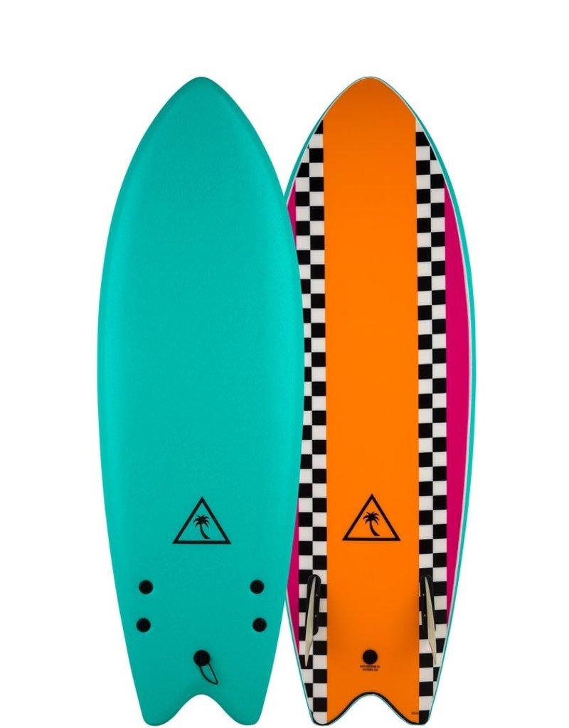 Catch Surfboard Co. Catch Surf 5'6 Retro Fish-Twin - Turquoise Top/Orange Bottom