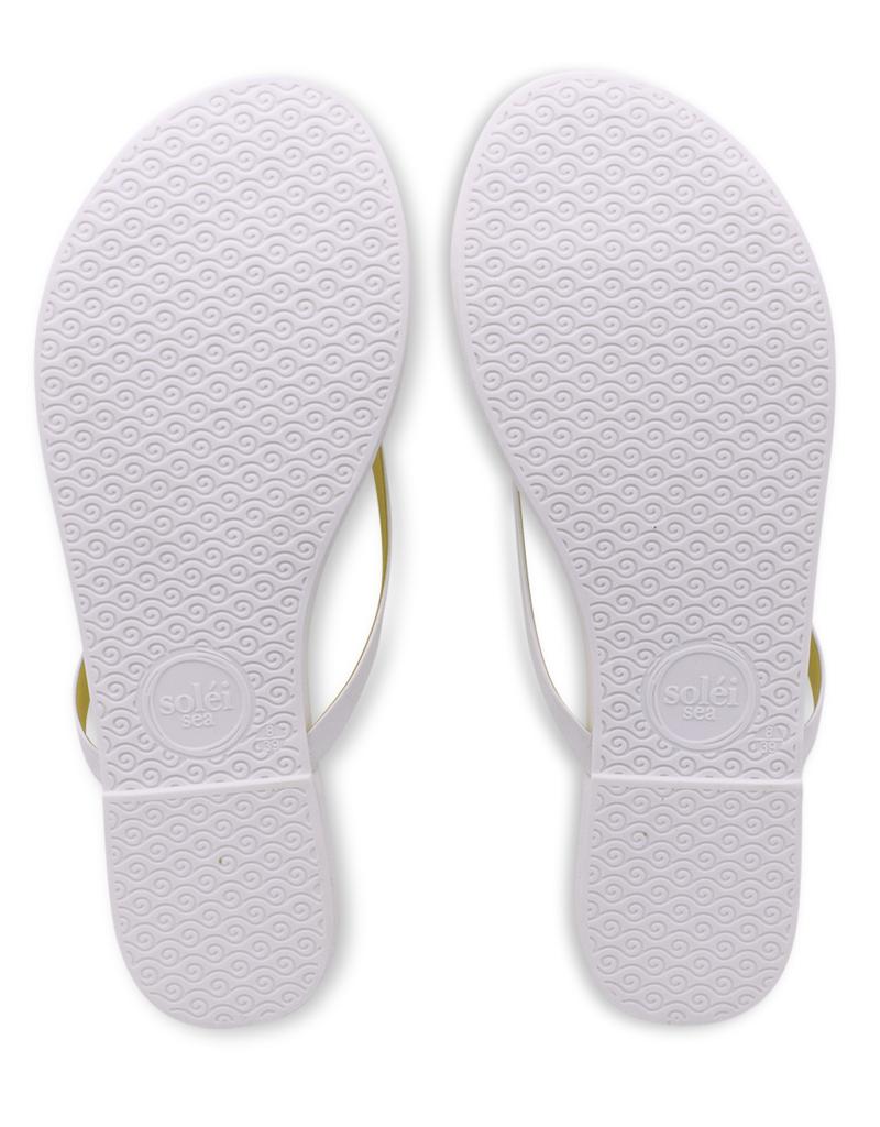 Solei Sea Solei Sea Indie White & Yellow Sandal