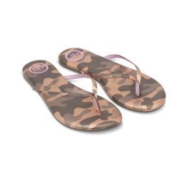 Solei Sea Solei Sea Indie Camo Metallic Gold & Lilac Sandal