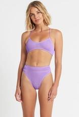 Bond-Eye BOUND by Bond-Eye The Selena Bralette Ribbed Bikini Top Lavender