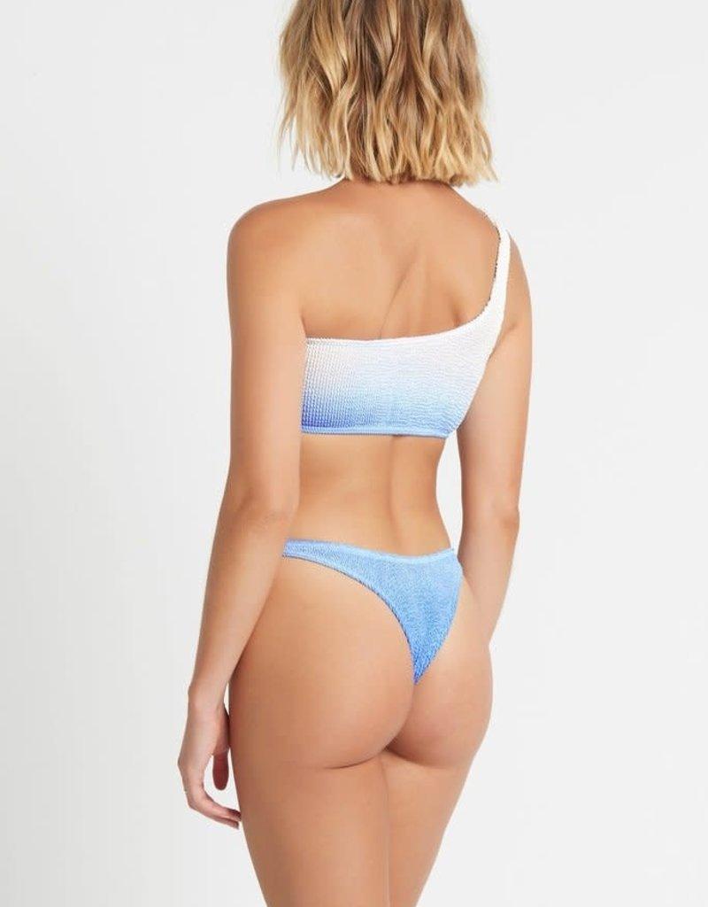Bond-Eye BOUND by Bond-Eye Ombre Samira Ribbed Bikini Top Lake Blue