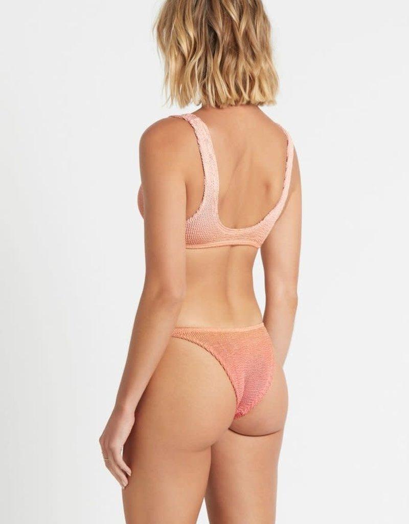 Bond-Eye BOUND by Bond-Eye Ombre Malibu Ribbed Bikini Bottom Rose Gold