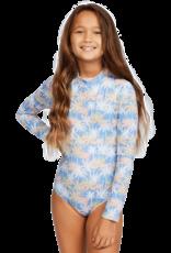 Billabong Billabong Girls Talk to the Palm Long Sleeve Swimsuit