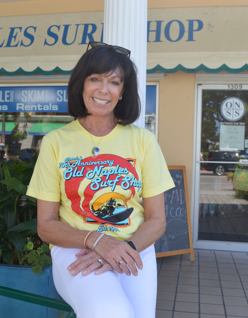 Old Naples Surf Shop ONSS 10 Year Anniversary T-Shirt