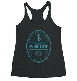 Saltwater Syndicate Saltwater Syndicate Beer Logo Racerback Tank Top