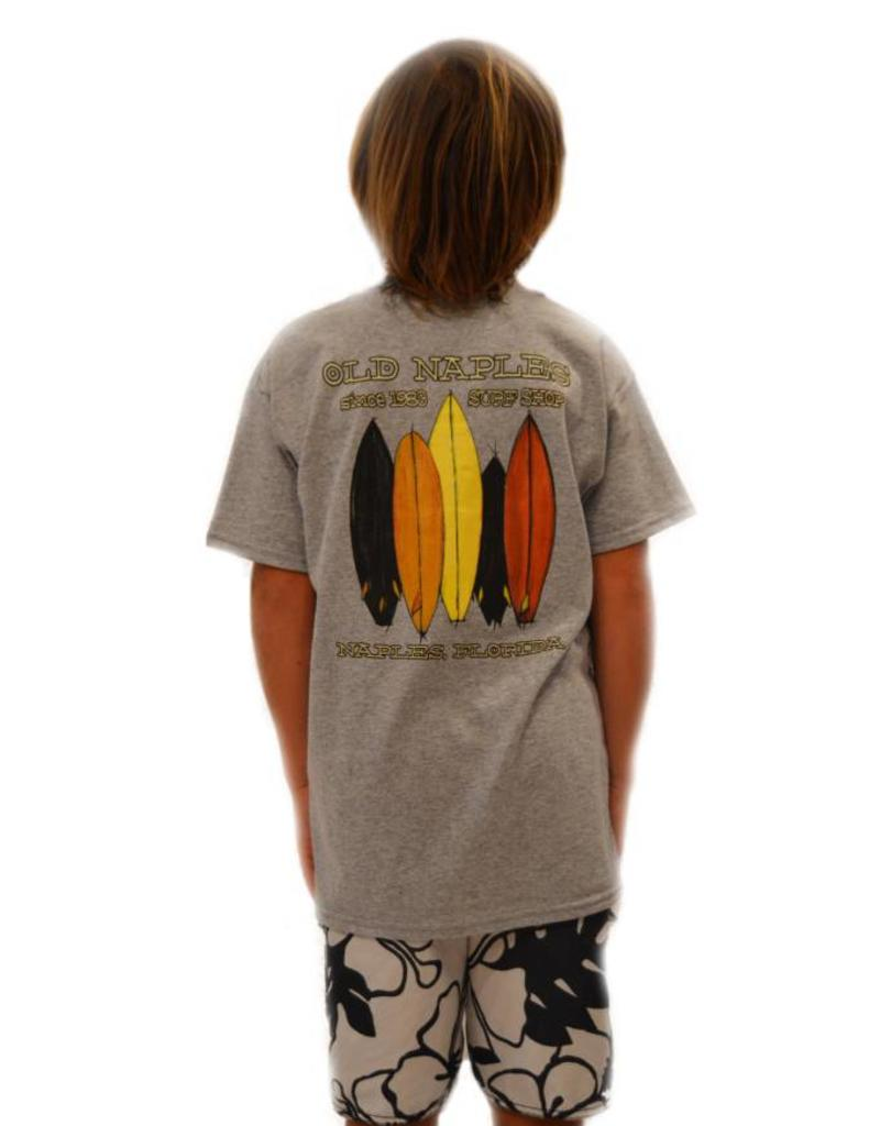 Old Naples Surf Shop ONSS Boys Painted Quiver T-Shirt