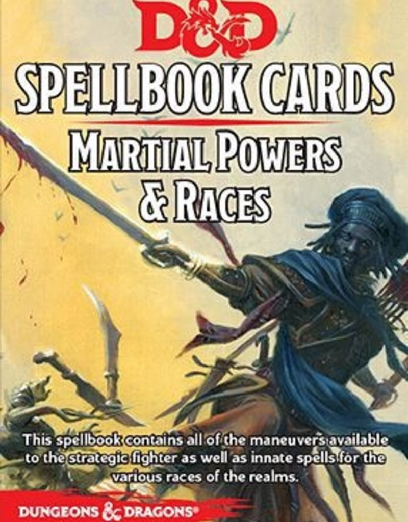 Dungeons and Dragons RPG: Spellbook Cards - Martial Deck (61 cards)