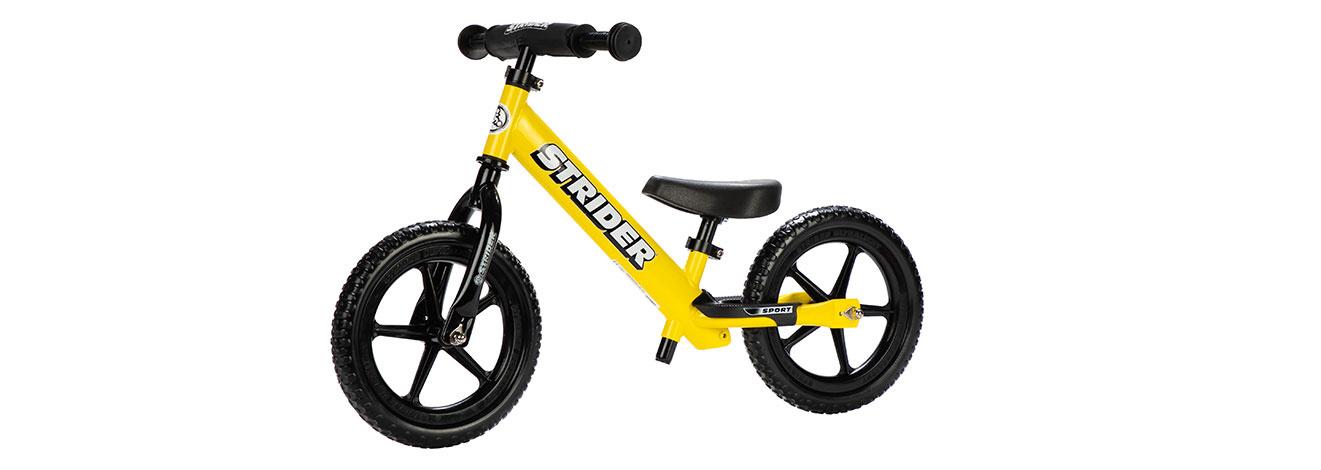 Strider 12 Sport Kids Balance Bike: Yellow