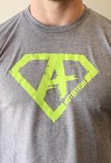 Athletes Nutrition AN: Shirt Green/Grey Medium