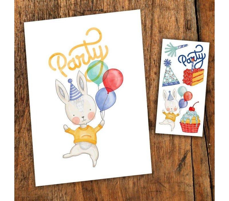 Carte de fête - Party