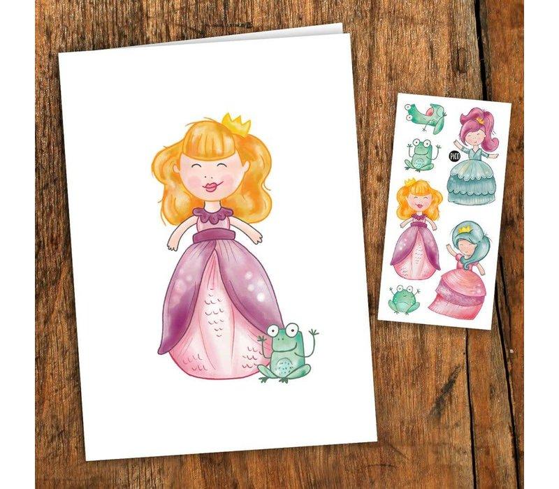 Carte de souhait - Princesses