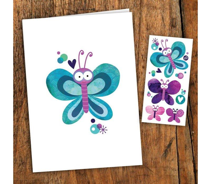 Carte de souhait - Papillons