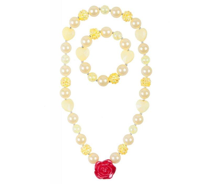 Belle Beautiful Rose Necklace Set (2 pcs)