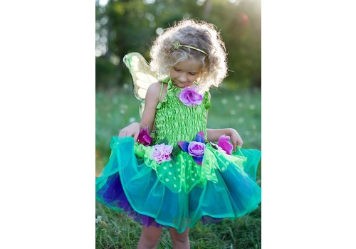 creative education Fairy Blooms Deluxe Dress, Green Size 5-6