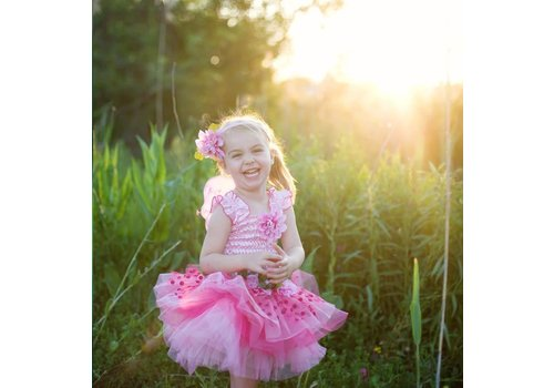 creative education Fairy Blooms Deluxe Dress, Pink Size 3-4