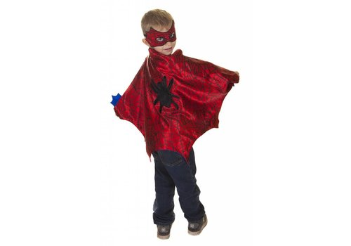 creative education Spider Cape Set, Red/Blue, Size 3-4