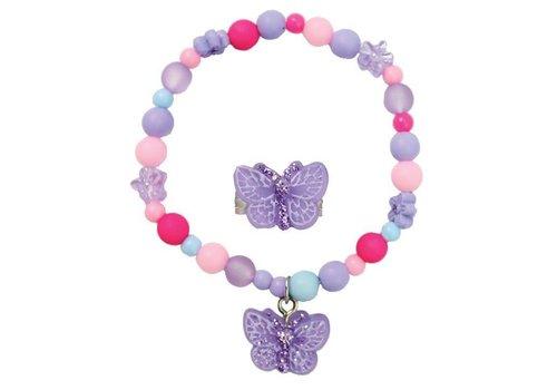 creative education Sparkle Butterfly Bracelet & Ring  Set
