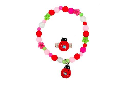 creative education My Fair Lady Bug Bracelet & Ring Set