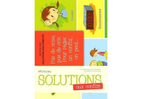 Affiche des solutions aux conflits