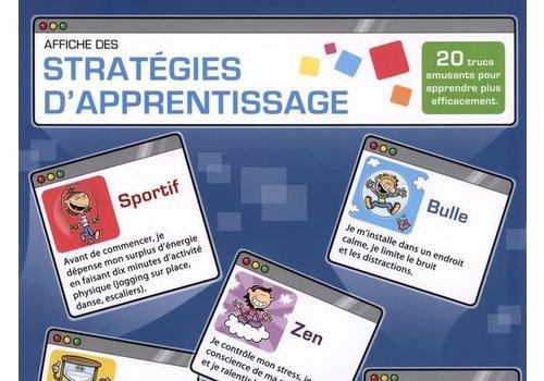 Affiche des stratégies d'apprentissage