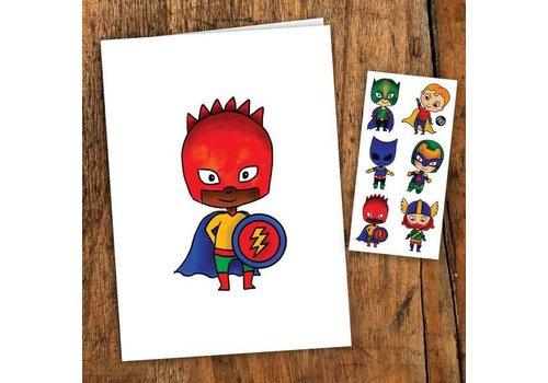 pico Carte de souhait- Les petits super héros