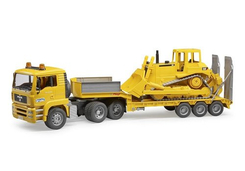 Bruder Loader Truck with cat Bulldozer