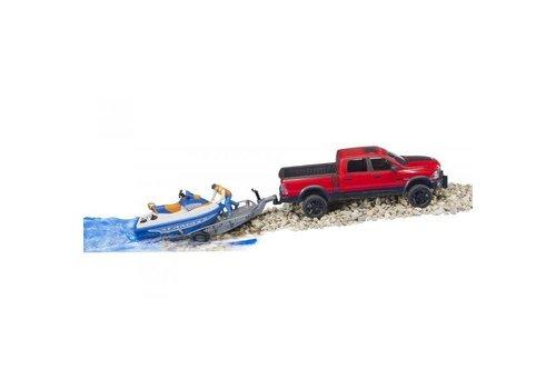 Bruder Dodge Ram avec remorque et moto-marine