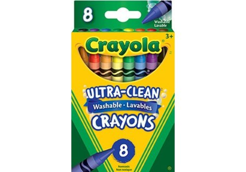 8 crayons de cire lavables
