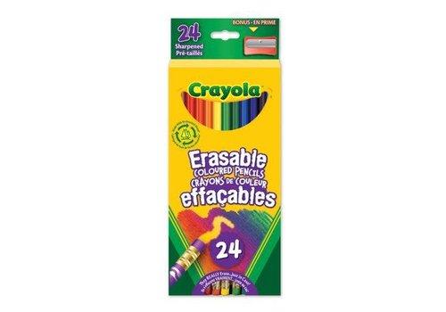 24 crayons de couleur effaçables
