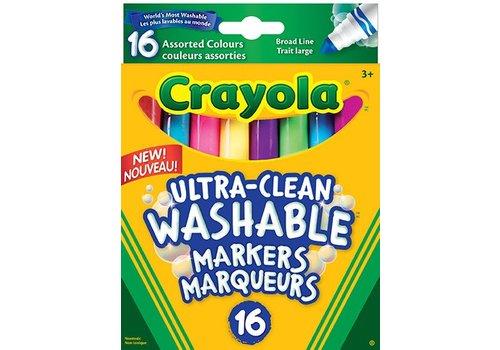 16 marqueurs lavables pointe large