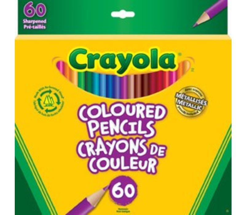 60 crayons de couleur