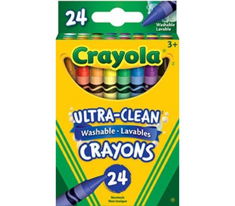 24 crayons de cire lavable