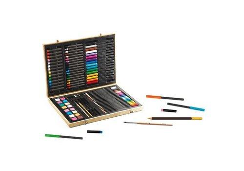 Djeco Mallette d'artiste Grande boîte de couleurs