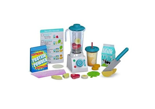 Melissa & Doug Smoothie Maker Blender Set - Ensemble avec mélangeur pour smoothie
