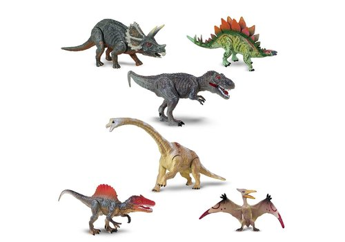 Ensemble de 6 dinosaures articulés