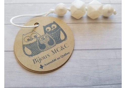 Bijoux MCC Jaseur (fermeture éclair) Blanc Brillant