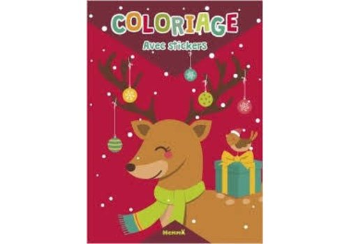 Hemma Coloriage avec stickers renne